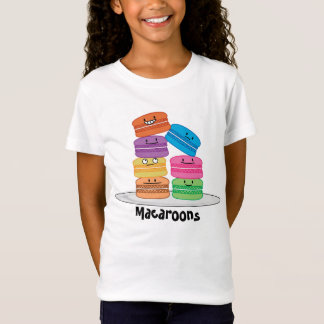 Macaroon Macaroons Happy Foods stacked up Macaron T-Shirt