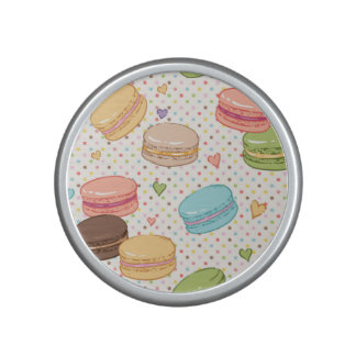 Macaroon,multi colour,polka dot,hearts,pattern,fun bluetooth speaker