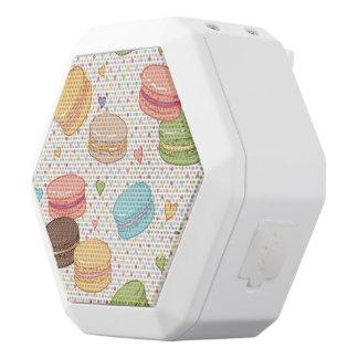 Macaroon,multi colour,polka dot,hearts,pattern,fun white boombot rex bluetooth speaker