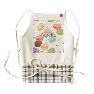 Macaroon,multi colour,polka dot,hearts,pattern,fun zazzle HEART apron