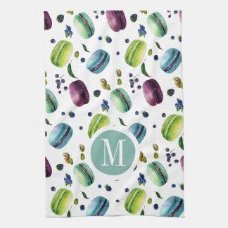 Macaroons & Berries Pattern Hand Towels