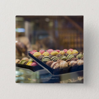 Macaroons in Show Window 2 Pinback Button