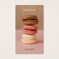 Macaroons / Macarons Custom Chef Business Cards at Zazzle