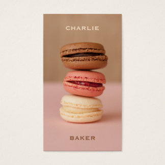 Macaroons / Macarons custom Chef business cards