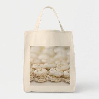 Macarrones blancos bolsa tela para la compra