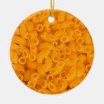 Macarrones con queso adorno redondo de cerámica
