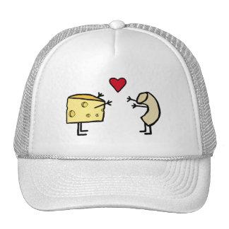 Macarrones con queso gorras