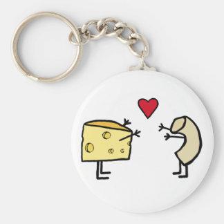 Macarrones con queso llavero redondo tipo pin