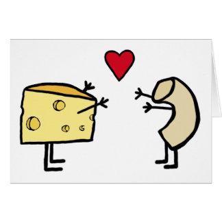 Macarrones con queso tarjeta de felicitación