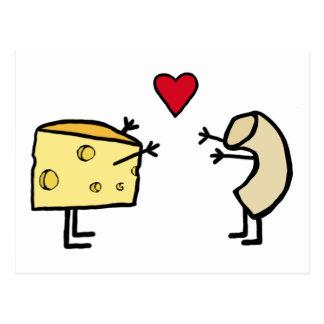 Macarrones con queso tarjetas postales