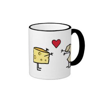 Macarrones con queso taza a dos colores