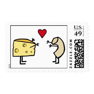 Macarrones con queso timbres postales