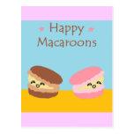 Macarrones felices tarjeta postal
