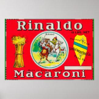 Macarrones LabelPhiladelphia, PA de Rinaldo Posters