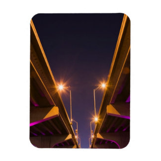 MacArthur Causeway seen from underneath at dusk Magnet
