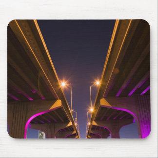MacArthur Causeway seen from underneath at dusk Mousepads