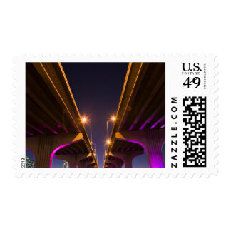 MacArthur Causeway seen from underneath at dusk Postage
