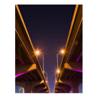 MacArthur Causeway seen from underneath at dusk Postcard