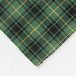 MacArthur Clan Black and Green Tartan Fleece Blanket