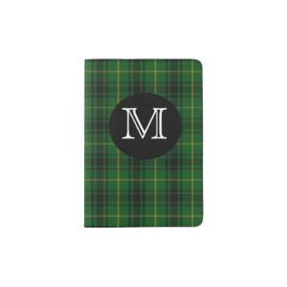 MacArthur Clan Plaid Monogram Passport Holder