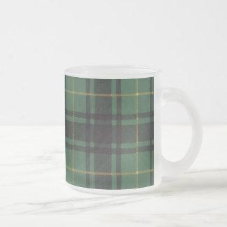Macarthur clan Plaid Scottish tartan Frosted Glass Coffee Mug