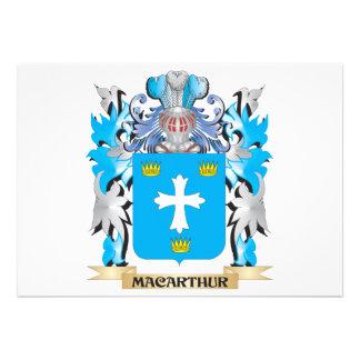 Macarthur Coat of Arms - Family Crest Custom Invites