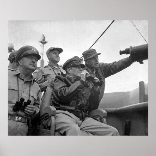 MacArthur Observing Inchon Print