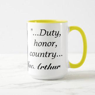 MacArthur quote Mug