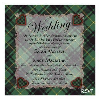 Macarthur Scottish clan tartan - Plaid Personalized Announcements