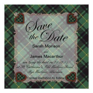 Macarthur Scottish clan tartan - Plaid Custom Invitation