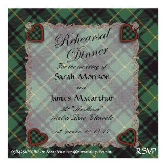 Macarthur Scottish clan tartan - Plaid Invitations