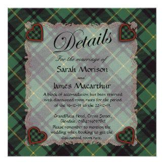 Macarthur Scottish clan tartan - Plaid Invites