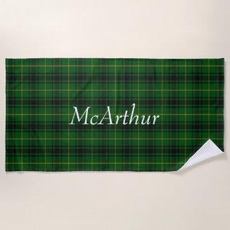 MacArthur Tartan Plaid Beach Towel
