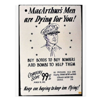 Macarthur's Men Are Dying For You Flyers