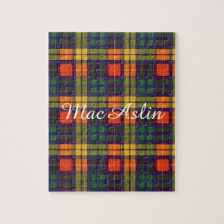 MacAslin clan Plaid Scottish kilt tartan Puzzles