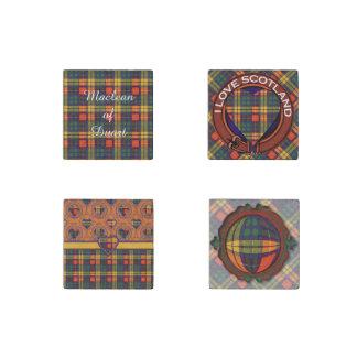 MacAslin clan Plaid Scottish kilt tartan Stone Magnet