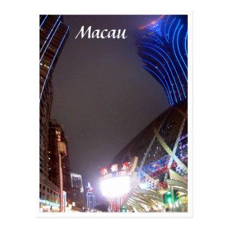 macau casino buildings postcard