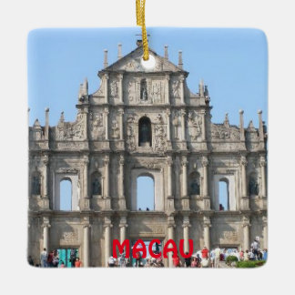Macau Ceramic Square Ornament