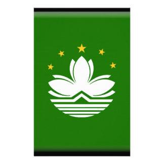 Macau (China) Flag Personalized Stationery