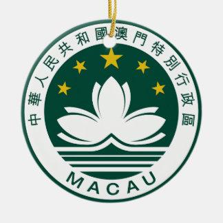 Macau (China) National Emblem Ceramic Ornament