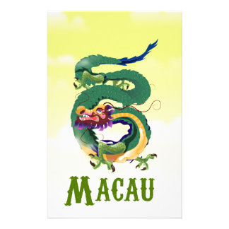 Macau China Vintage style travel poster Stationery