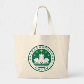 Macau Coat Of Arms Tote Bags