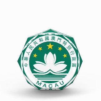 macau emblem acrylic award