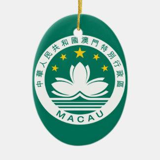 macau emblem ceramic ornament