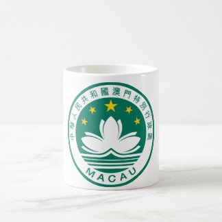 macau emblem classic white coffee mug