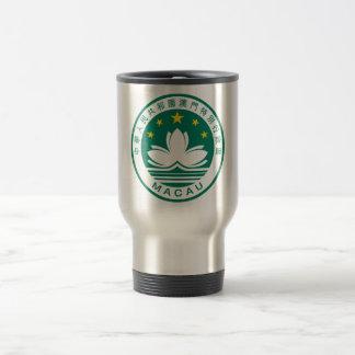macau emblem 15 oz stainless steel travel mug