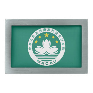 macau emblem rectangular belt buckle