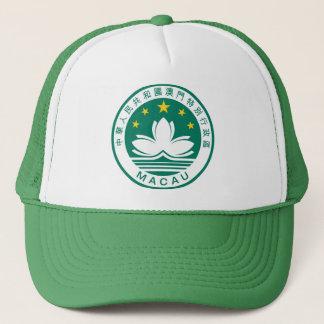 macau emblem trucker hat