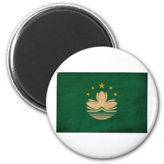 Macau Flag 2 Inch Round Magnet