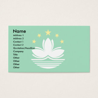 Macau Flag Business Card